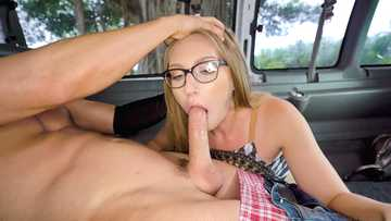 Unexpected sexual adventures of nerdy lassie Sera Moon in Bang Bus