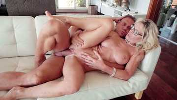 Treating desperate French MILF Marina Beaulieu to a thick director's cock