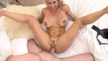 Brani Love plays a desperate MILF pussy fucking all the friends of her son