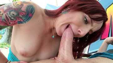 Ariel Blue surprises Mike Adriano with anal fisting and ass to mouth skills