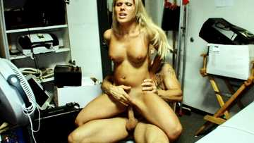 Amateur blonde Aubrey Addams fucked hardcore in the back-room!